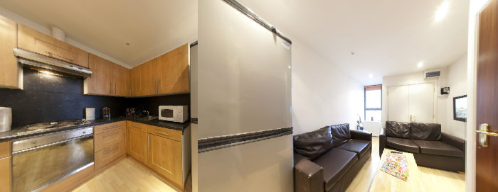 4 Bedroom Flat - Kitchen - Living Area